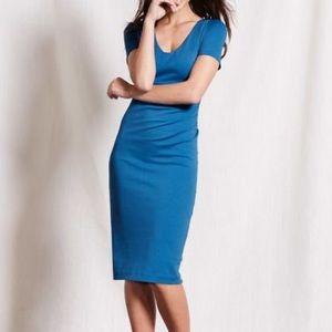 Boden Blue Ruched Dress
